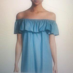 Rebecca Minkoff off the shoulder ruffle dress